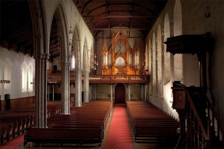The church interior viewed from the east (photo Bergen Domkirke menighet)