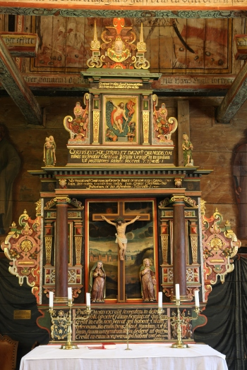 The altarpiece from 1620 (photo Justin Kroesen)