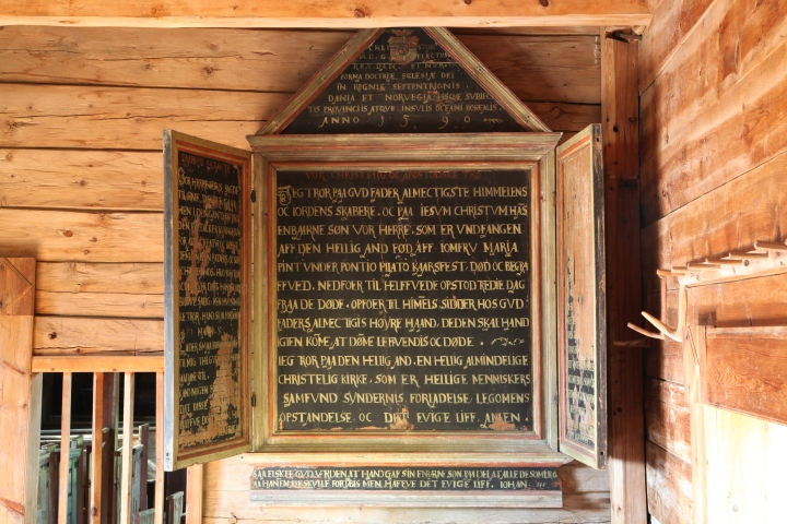 The 'catechism panel' from 1590 (photo Justin Kroesen)