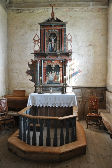 The altar in the chancel, c. 1630 (photo Justin Kroesen)