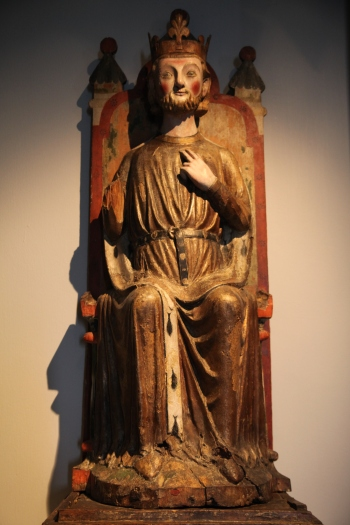 Figure of St Olaf from Røldal church, thirteenth century, now at the University Museum in Bergen (photo Justin Kroesen)