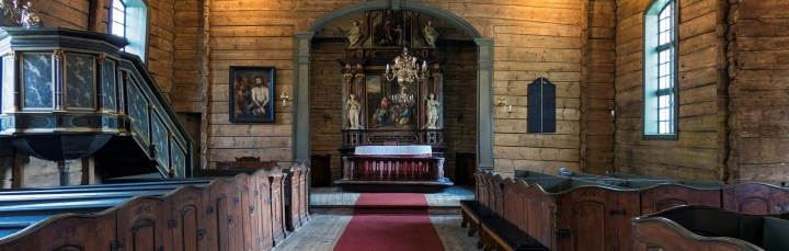 The interior of the church (photo Bymuseet i Bergen)