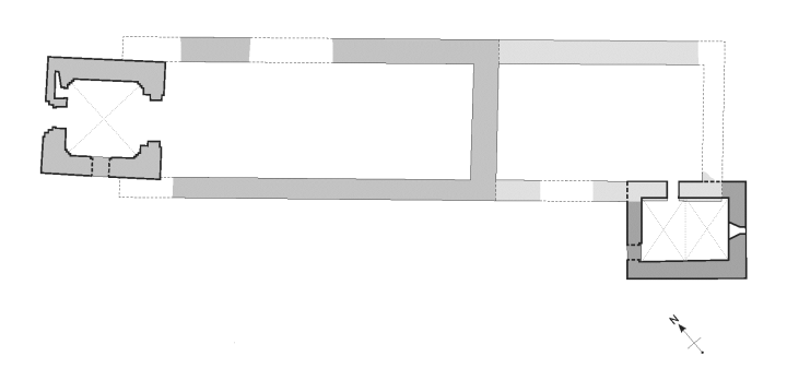 Ground plan of the church around 1300 (after B.E. Bendixen)